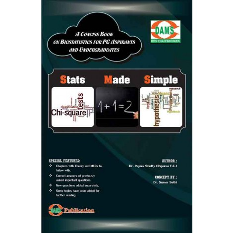 Stats Made Simple-A Concise Book On Biostatistics (For PG Aspirants And Undergraduates)