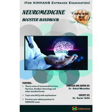DAMS Neuromedicine Booster Handbook-Topic Wise MCQ (For NIMHANS Entrance Examination)