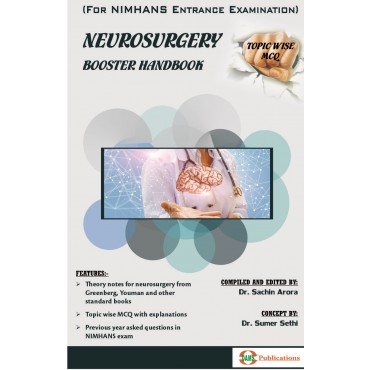 DAMS Neurosurgery Booster Handbook-Topic Wise MCQ (For NIMHANS Entrance Examination)